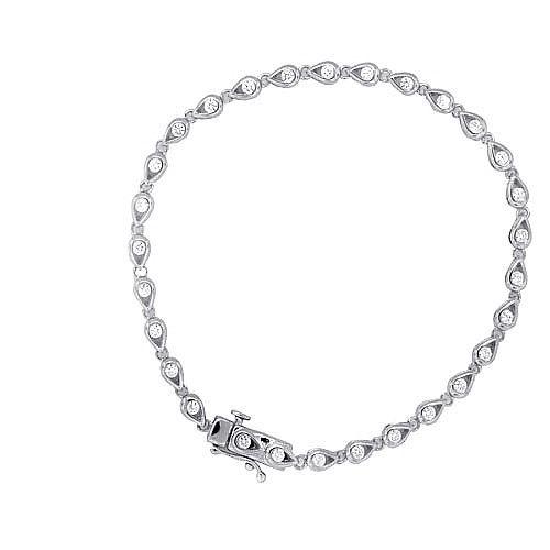 0.97 ct.t.w.Cubic Zirconia Sterling Silver bracelet