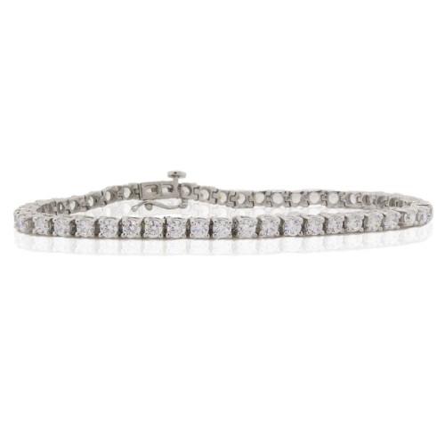 9.44 ct.t.w.Cubic Zirconia Heavy Sterling Silver Bracelet
