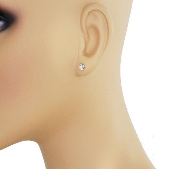 IGI Certified 0.42 Carat TW Round Diamond Stud Earrings 14Kt Gold (JK-SI)