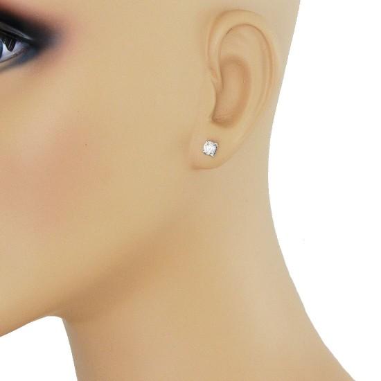 0.66 Carat TW Round Diamond Stud Earrings in 14Kt White Gold