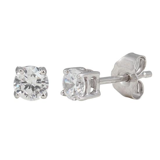 1/2 Carat TW Round Diamond Stud Earrings 14Kt Gold