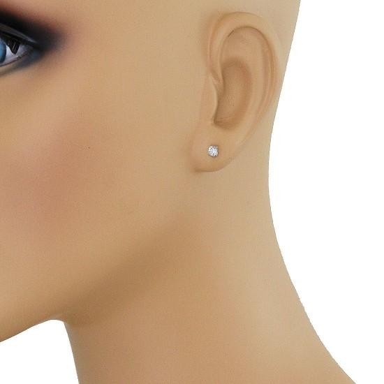 IGI Certified 3/8 Carat TW Round Diamond Stud Earrings 14Kt Gold (IJ-SI)