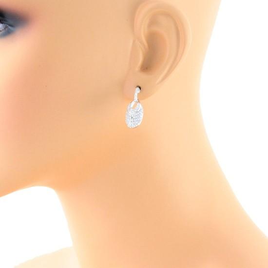 1/2 carat Diamond Fashion Drop Earrings in 14Kt White Gold