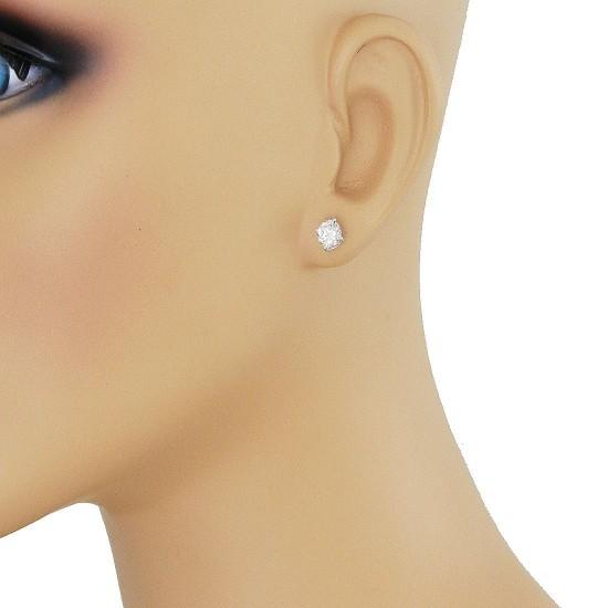 IGI Certified 1.58 Carat TW Round Diamond Stud Earrings 14Kt White Gold (KL-I2I3)