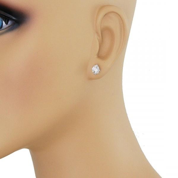 1 4 5 Carat Tw Martini Setting Round Diamond Stud Earrings In 14kt White Gold