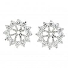 Cubic Zirconia Earring jacket ,Sterling Silver