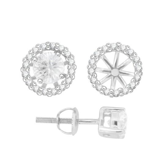 Cubic Zirconia Earring Jackets in Sterling Silver