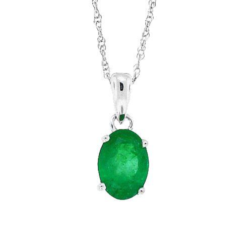 110 cttwnuine emerald pendant necklace sterling silver twnuine emerald pendant necklace sterling silver aloadofball Images