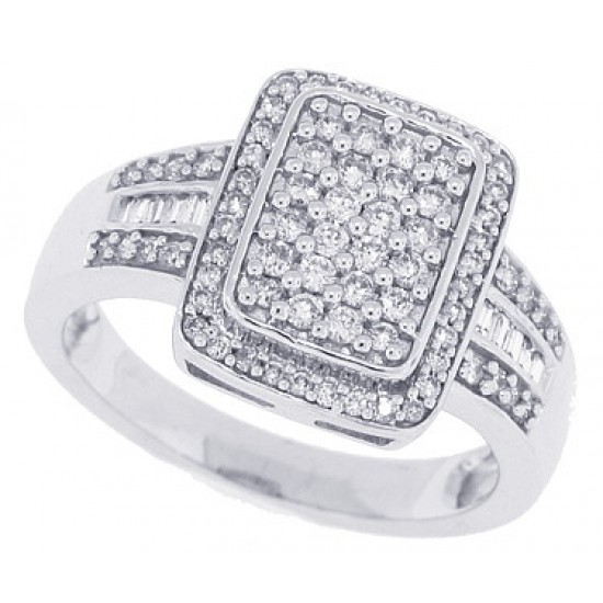 1/2ct Genuine Diamond Right Hand Ring in 10Kt White Gold