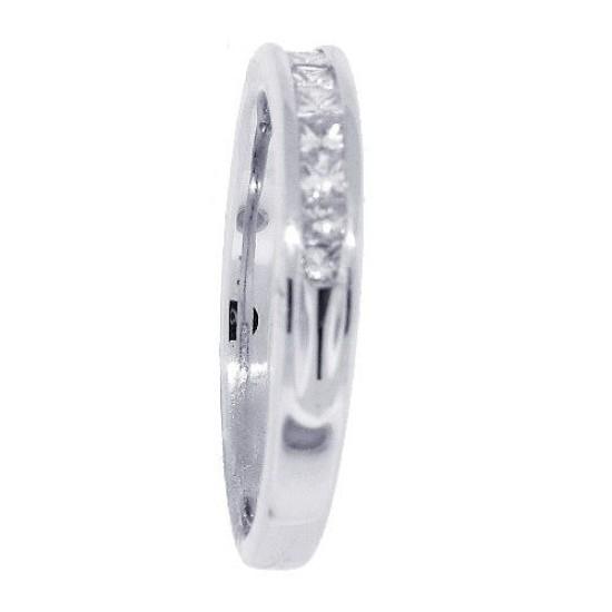 Princess Cut Diamond Wedding Band in 14kt White Gold