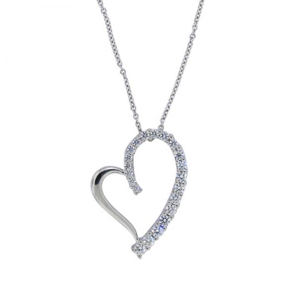 050 cttwbic zirconia heart pendant necklace sterling silver twbic zirconia heart pendant necklace sterling silver aloadofball Gallery