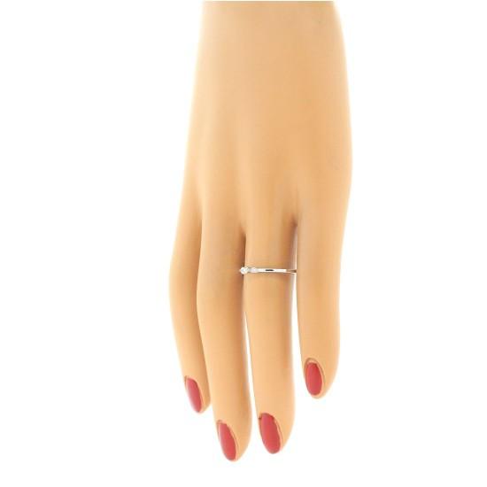 Genuine Diamond Three Stone Ring 10Kt White Gold 0.10 cttw