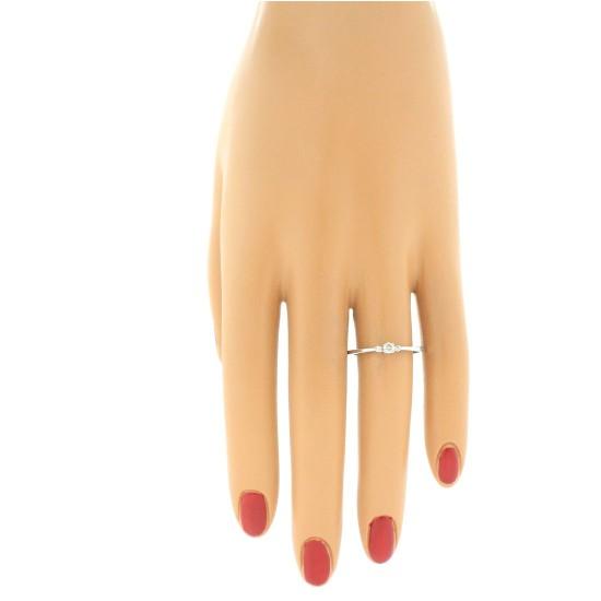 Diamond Three Stone Promise Ring 10Kt White Gold 0.12 cttw