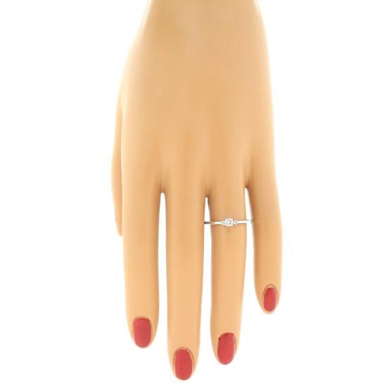 Diamond Three Stone Ring 10Kt White Gold 0.15 cttw