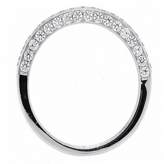 Cubic Zirconia Engagement Ring Sterling Silver, Rhodium Plated