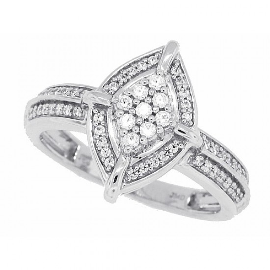 Cubic Zirconia Fashion Ring Sterling Silver
