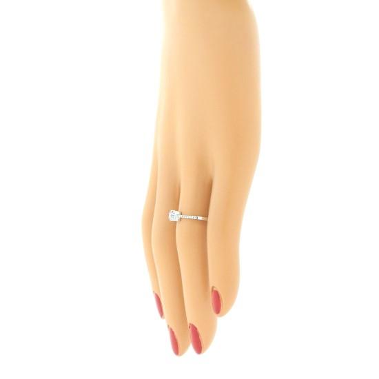 Princess Cut Genuine Diamond Engagement Ring 10Kt White Gold 0.25 cttw