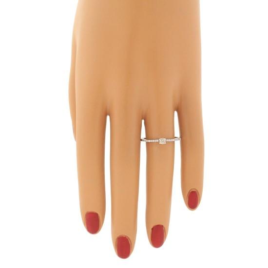 Genuine Diamond Engagement Ring 10Kt White Gold 0.33 cttw